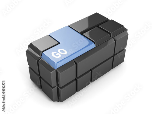 Blue Keyboard Cube