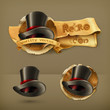 Cylinder hat, vector icon