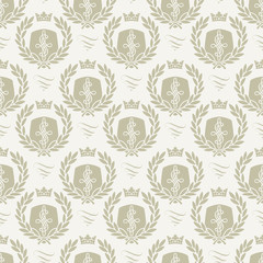 Seamless pattern crest
