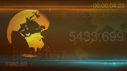 Yellow Globe rotation background