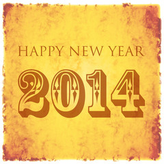 happy new year 2014 retro shabby