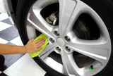 Sponge & microfiber cleaning car wash