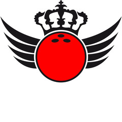 Bowling Ball Wings Blazon