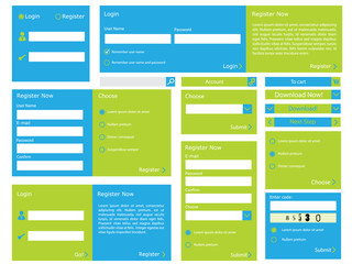 Web form with flat design