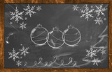 Chalk Decorative Draw Christmas ornament