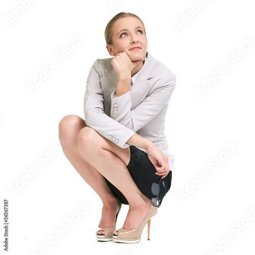 Pensive lady