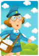The woman delivering mail