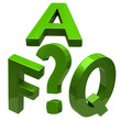 Green frequently asked questions icon