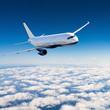 Leinwanddruck Bild - Airplane in the sky - Passenger Airliner / aircraft