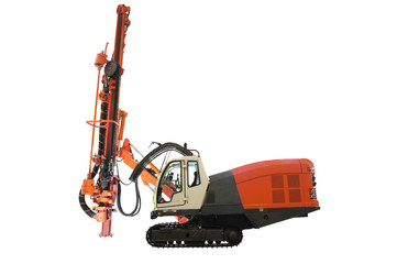 machine for drilling holes