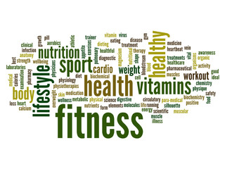 Conceptual fitness word cloud
