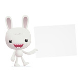 bunny in various poses for use in advertising, presentations,