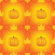 seamless Halloween pattern with pumpkins and maple leaves