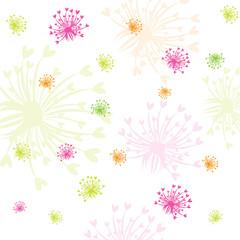 Seamless Flower Vector Background