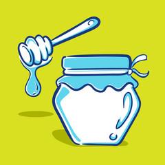 Honey Jar - Blue Series
