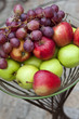 Fruit, pomme, raisin, automne, saison, frais, aliment