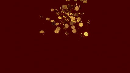 Cascade of gold coins.