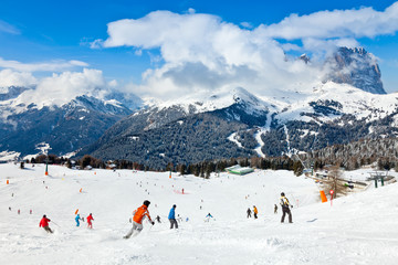 Ski Resort in Dolomites