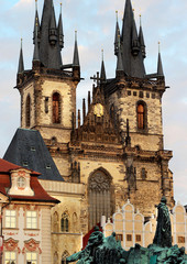 Tyn church in Prague, Czech republic