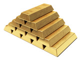 Gold ingots pyramid