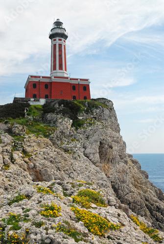 Fototapeten,capri,leuchtturm,napoli,campania