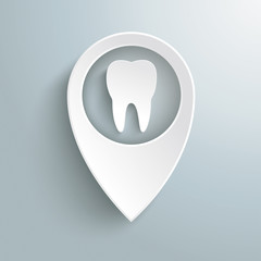 White Location Marker Tooth PiAd
