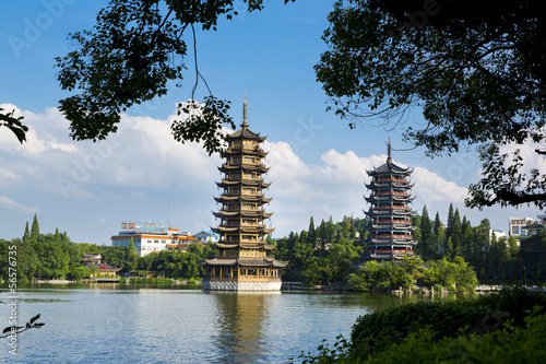 Pagodas Riming Shuang Ta - Guilin - China