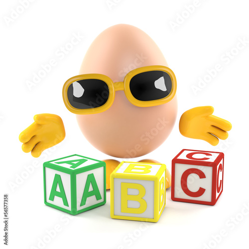 Egg man teaches the ABC