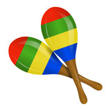 Image of maracas on a white background
