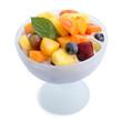 Quarkspeise mit Obst