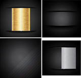 Set Metal Backgrounds