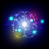 abstract digital brain background