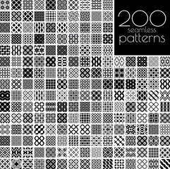 Black and white ornament patterns