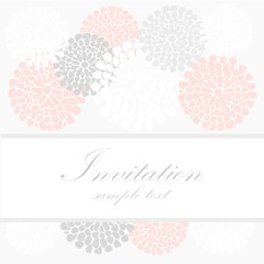 Wedding birthday card invitation, abstract floral background