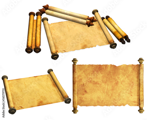 Set of ancient scrolls