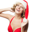 woman beauty christmas