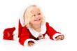 Very happy female Santa