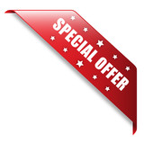 """SPECIAL OFFER"" Ribbon (label stamp online offers button)"