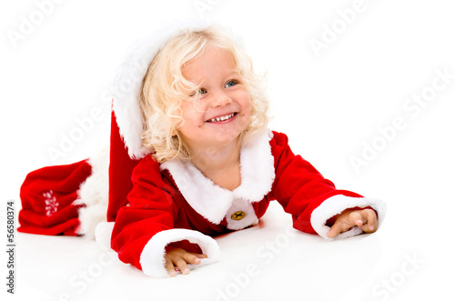 Very happy female Santa