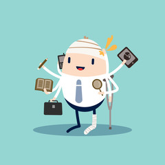 Workaholic Business cartoon character