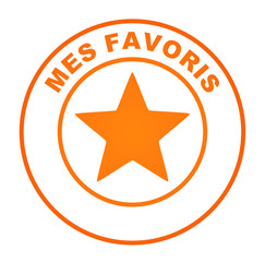 mes favoris sur bouton web orange