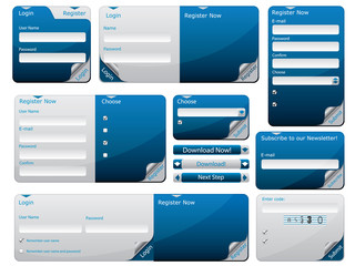 Sticky web form template