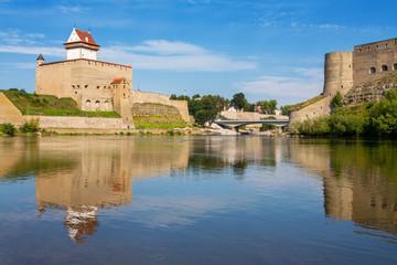 Narva river. Estonian-Russian Border, Europe