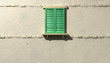 Window With Closed Green Shutters Front