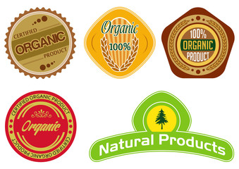 vector labels for organic products