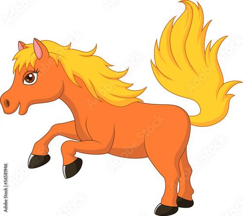 Cute pony horse cartoon