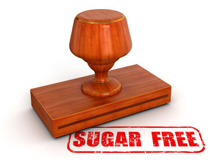 Rubber Stamp sugar free  (clipping path included)