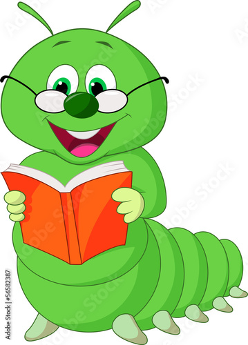 Caterpillar reading book