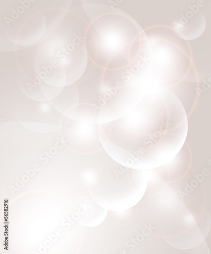 Abstract background with bubbles and light