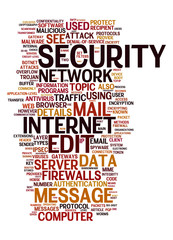 internet security text cloud